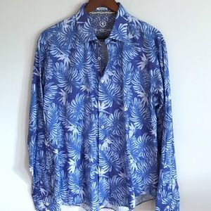 Men's Bugatchi Long Sleeve Shaped Fit Button Down